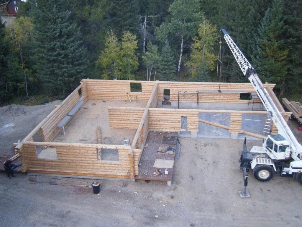 Aerial view of Bouma log structure; 10-08-09