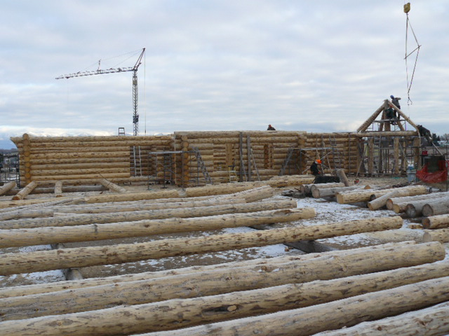 Floor joists being notched