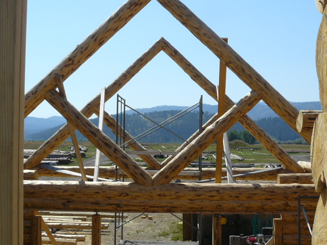 Diamond trusses from the loft