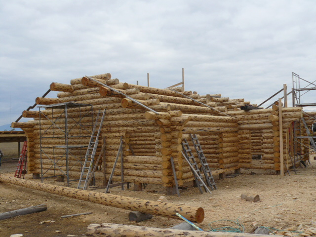 Full log gable ends