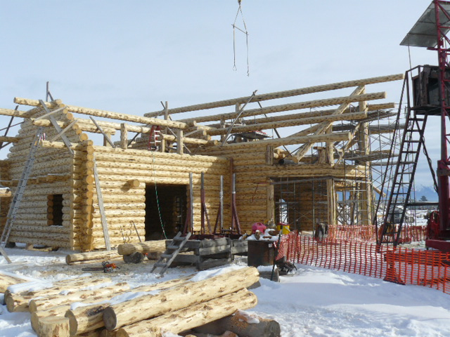 Log Gable ends nearing completion