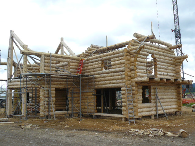 Log gable starting