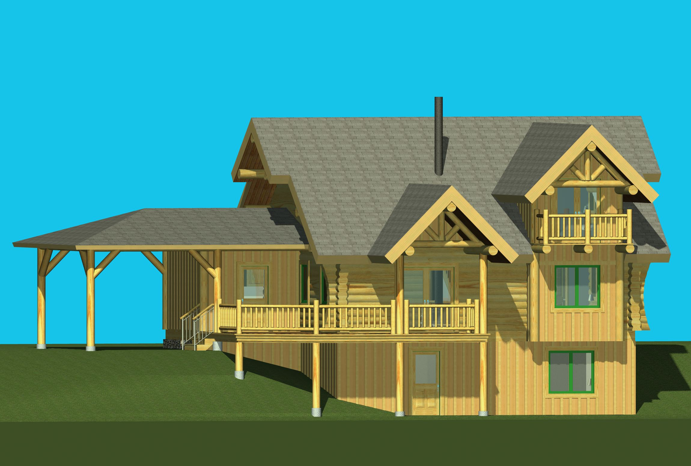 Rendering of completed home