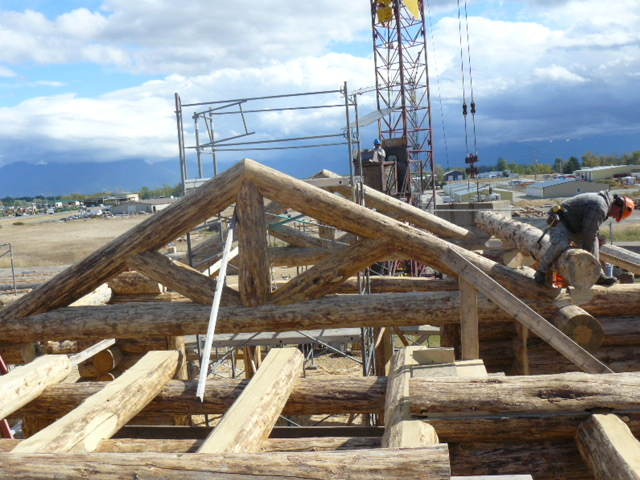 Interior log truss
